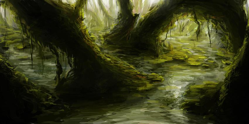 SPEEDPAINT - Swamp by tgw-Raptor