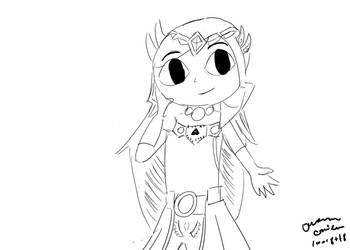Linktober Day 18: Zelda by GreenLightning1992