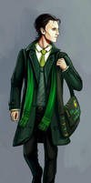 Young Loki on Midgard by Dreambeing