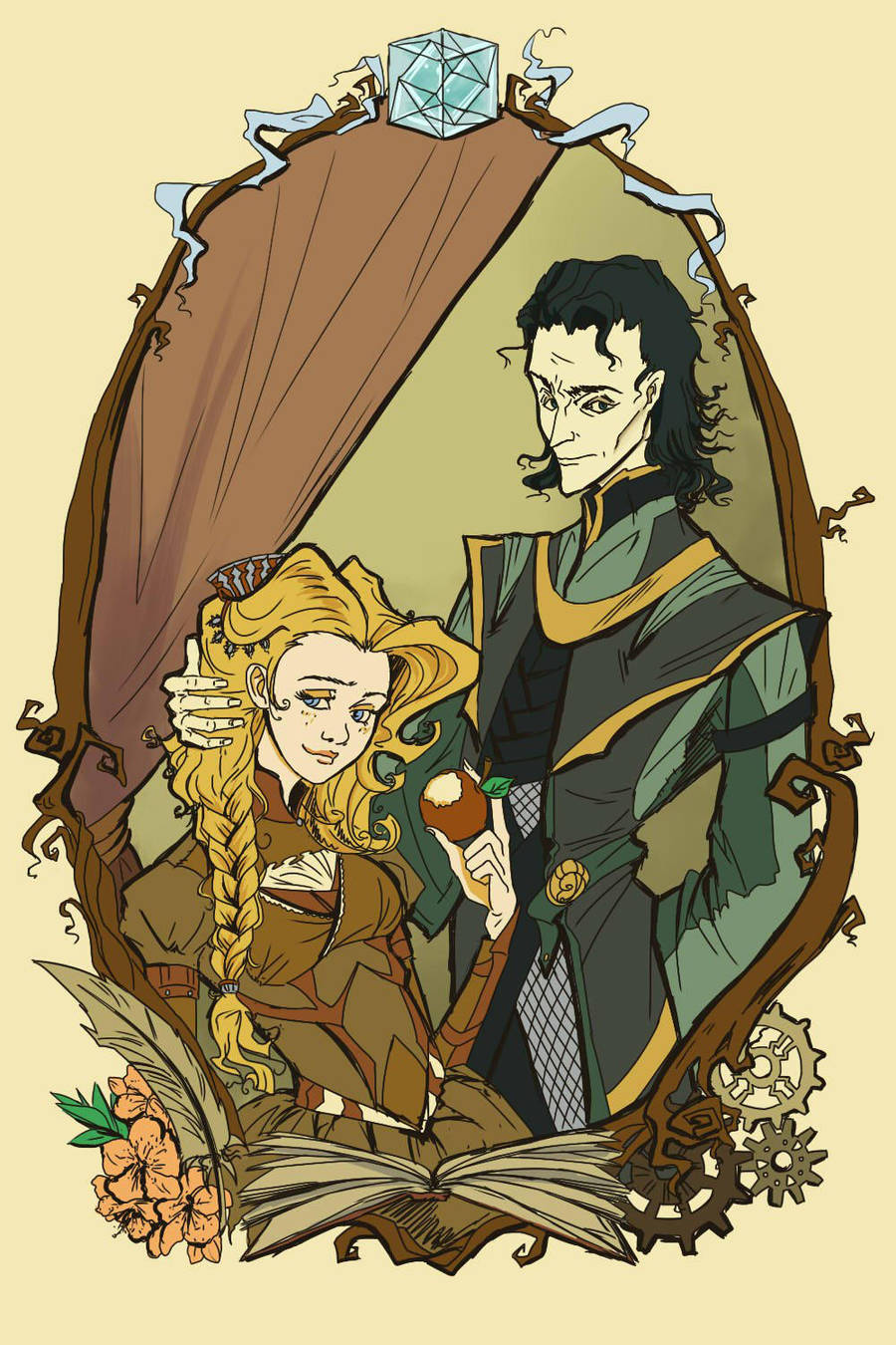 Loki and Sigyn: Gothic by Dreambeing