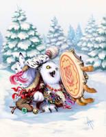 snowy owl by napluvayka