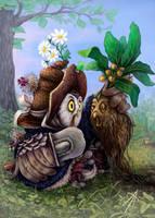 Owl herbalist by napluvayka