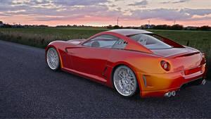 Ferrari 599GTO render by bewsii