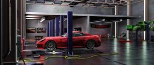Garage: 3d Modeling Studio project - FINAL 1 by bewsii