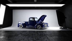 52 Chevy truck 3d render by bewsii