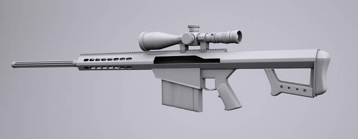 Barrett .50 Cal sniper rifle by bewsii