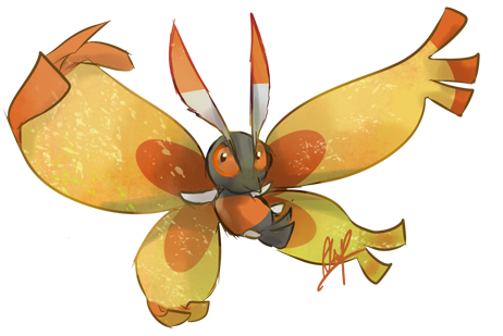 Pokemon December Day 1 Mothim By Nin Wolf On Deviantart