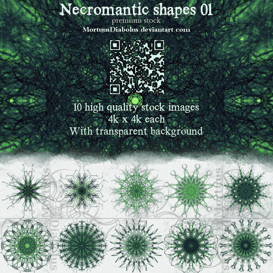 Necromantic shapes stock 01 by MortuusDiabolus