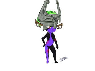 Midna/Midnight Imp Form (commission) by RadianceDashZelda