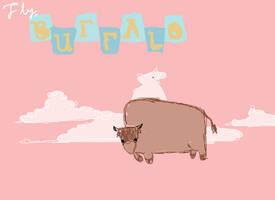 Fly, Buffalo by plasticgiantcatbear
