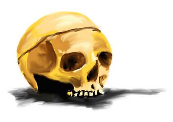 Skull Study by KellyCDB