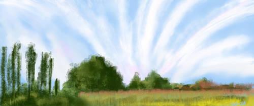 Landscape speedpaint by KellyCDB