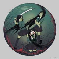 Three girls by vincvincit