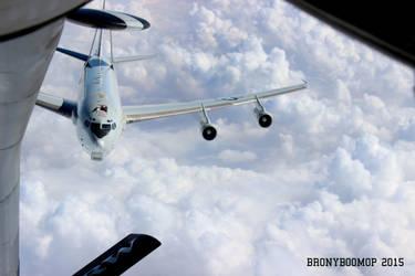 E-3 Sentry Approaching KC-135 by AviatorAndy