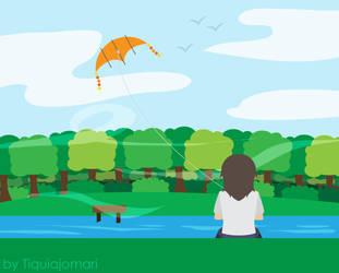 Kite Flying by tiquiajomari