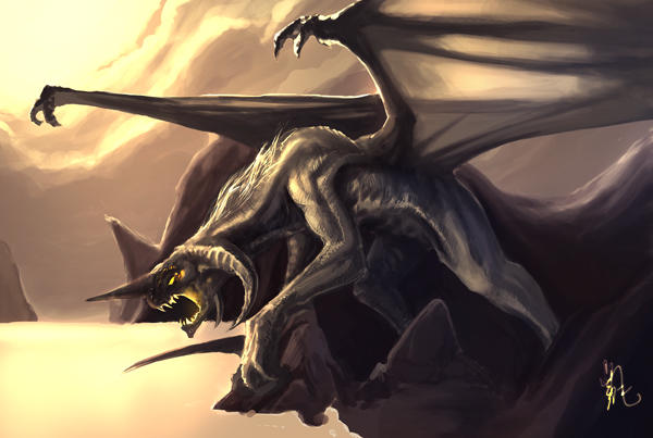 Facebook dragon. by Skyrion