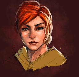 Quick Sketch- Triss Merigold by Olieart