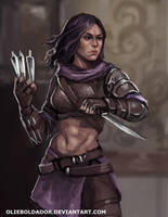 Commission: Female Thief by Olieart