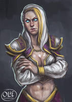 Sketch no. 270 Jaina Proudmoore by Olieart
