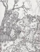 Dracula Vs. Frankenstein by KurtBelcher1