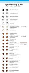 Eyes Tutorial step-by-step by Sieyarelow