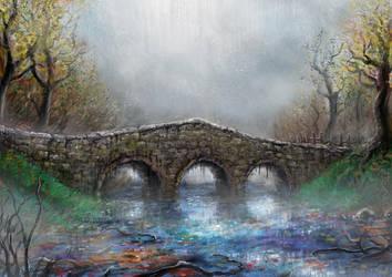 Autumn Bridge by PeterSiedlArt