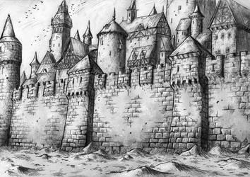 Stone Wall by PeterSiedlArt