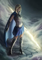 Commission: Knight of Light by raptorzysko