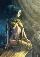 Queen of pentacles by raptorzysko