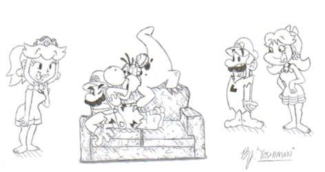 Mario Flintstones by YoshiMan1118