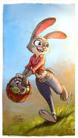 Easter bunny Judy Hopps by kettyformaggio