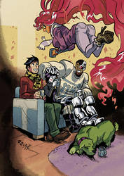 Fall Of The Teen Titans by weremole