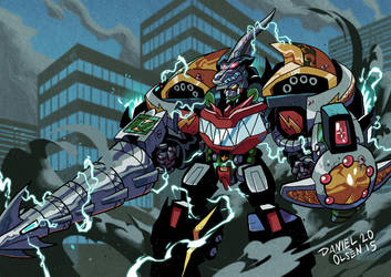 Mega Dragonzord by weremole
