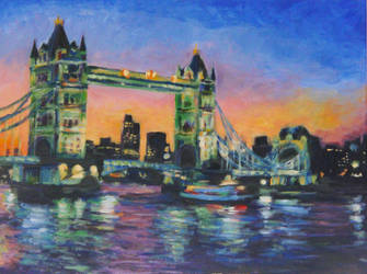 Dusk at London by ShadowDragonK