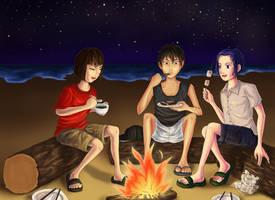 Camping at the Beach by ShadowDragonK