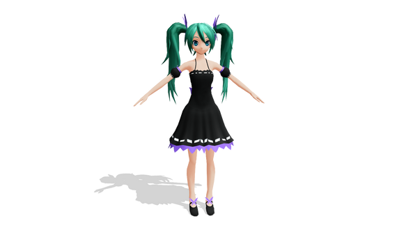 MMD - acute / innocent miku (pdf style) by Ina-C