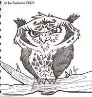 Crazy Mr. Owl by JoeCostantini