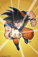 Goku Comic Style by JoeCostantini