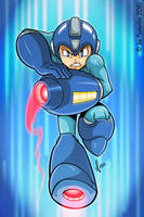 Mega Man Rocks by JoeCostantini