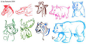 Animal Doodles by JoeCostantini