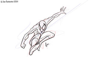 Spidey Sketch 10-28-11 by JoeCostantini