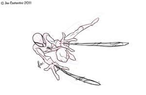 Spidey Sketch 11-08-11 by JoeCostantini