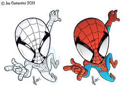 Spidey 'CHIBI' Sketch 11-18-11 by JoeCostantini