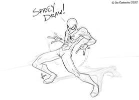Spidey Draw 08-01-12 by JoeCostantini