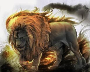Astaldo the gold Lion by Phoenixtsubasa