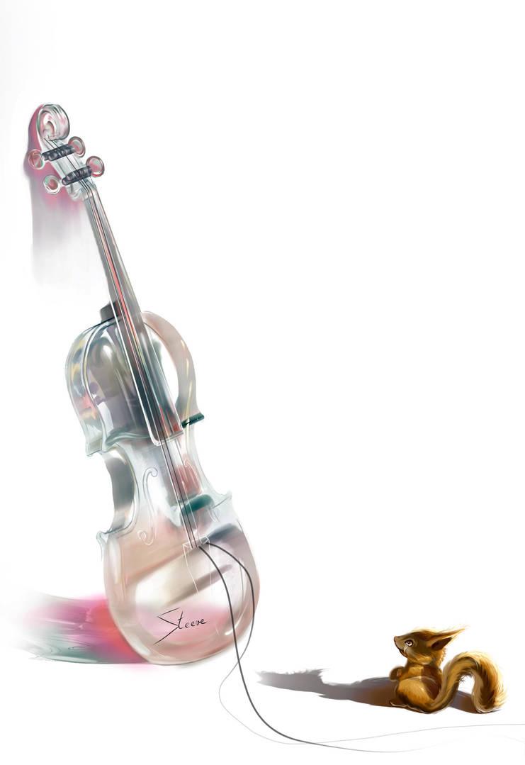 Scratch et le violoncelle de verre by Phoenixtsubasa