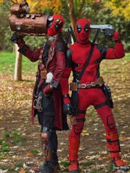 Deadpool Steam And Deadpool Friend,double headshot by shinocosplayer78