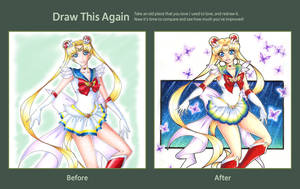 Draw This Again: Super Sailor Moon by MegzieSassypants