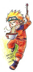 Naruto and Ramen by jingster