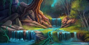 landscape: forest by FataFortuna